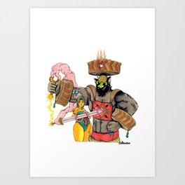 The Blumafuria Explorers Art Print