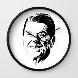 Ronald Reagan Minimalistic Pop Art Wall Clock