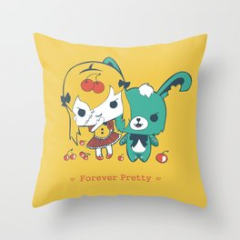 Forever Pretty Throw Pillow