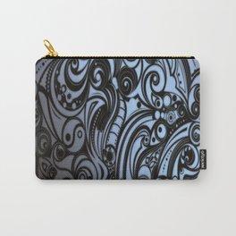 gray batik blue Carry-All Pouch