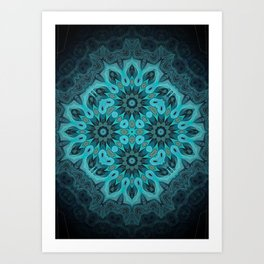 "Mermaid's Dream Mandala (created from the painting ""The Gift"") Art Print"