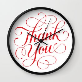 Thank You Wall Clock