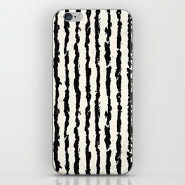 Vertical Ivory Stripes iPhone Skin