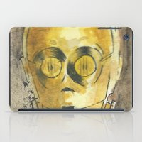 c3po iPad Cases featuring C3PO by Johannes Vick