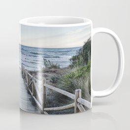 """Walking to the beach....."" At sunset Coffee Mug"