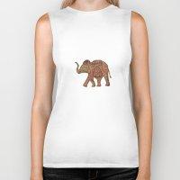 baby elephant Biker Tanks featuring  Elephant baby by valzart
