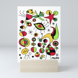 Joan Miro Peces De Colores (Colorful Fish ) Artwork for Posters Tshirts Prints Men Women Kids Mini Art Print