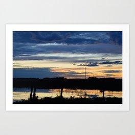 Prairie Sunset Art Print