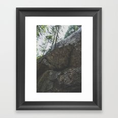 Cliff Face Framed Art Print