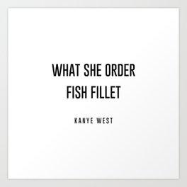 Fish fillet Art Print