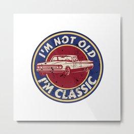 Vintage Classic Car Lovers Metal Print