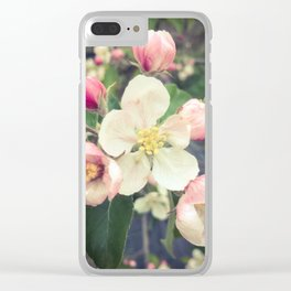 beautiful apple blossom Clear iPhone Case
