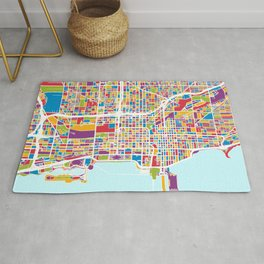 Chicago City Street Map Rug