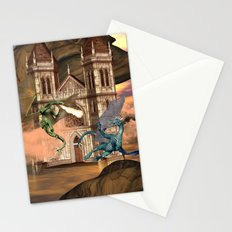 The dragon fight Stationery Cards