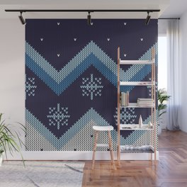 blue knit Wall Mural