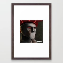 Rusty Joints Portrait - Airbrush Style - Feature Study Framed Art Print