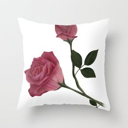 Mystical Maroon Rose Throw Pillow