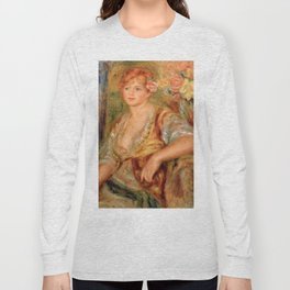 """Auguste Renoir """"Blonde à la rose"""" Long Sleeve T-shirt"""