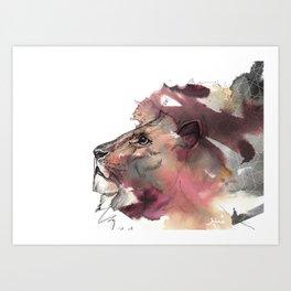 The Leo King Art Print