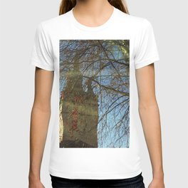 Old Tower And Leafless Branches T-shirt