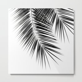 Black Palm Leaves Dream - Cali Summer Vibes #2 #tropical #decor #art #society6 Metal Print