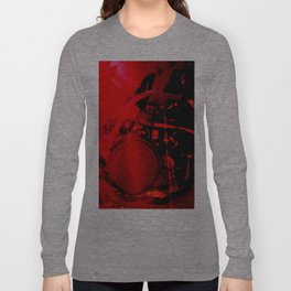 RED DIRTBIKE ENGINE Long Sleeve T-shirt
