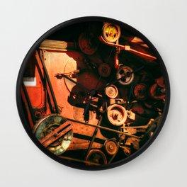 Scarlet Soviet Combine Warp Wall Clock