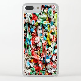 Gum Wall was once cleaned, then this happened. Clear iPhone Case
