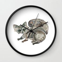 Raccoon – Warm Grey Palette Wall Clock