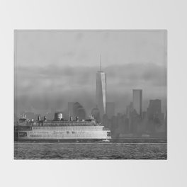Ferry & Freedom Tower Throw Blanket