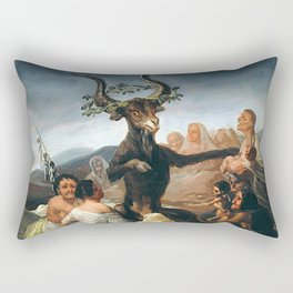 THE SABBATH OF THE WITCHES - GOYA Rectangular Pillow