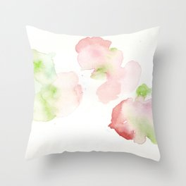 180807 Abstract Watercolour 11 | Colorful Abstract |Modern Watercolor Art Throw Pillow