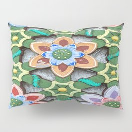Haedong Yonggungsa Temple Door Carving III Pillow Sham