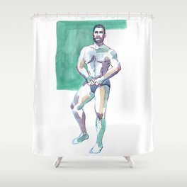 FRED, Nude Male by Frank-Joseph Shower Curtain