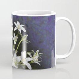 White 6 Petal Star Wildflowers Coffee Mug