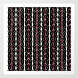 Flower of Life stripes pattern Art Print