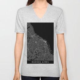 Buenos Aires Black Map Unisex V-Neck