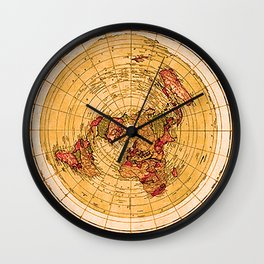 THE FLAT EARTH CLOCK Wall Clock