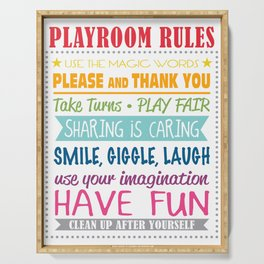 Playroom Rules Serving Tray