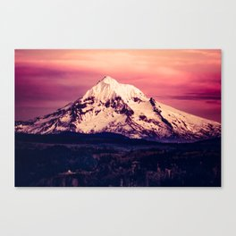 Mt Hood Mountain with Snow Canvas Print