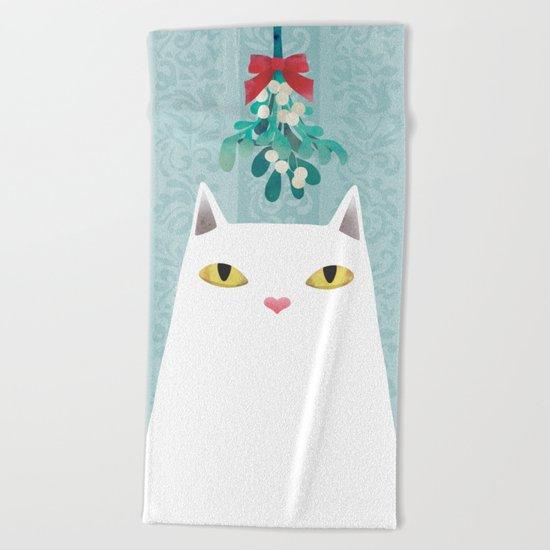 Mistletoe? Beach Towel