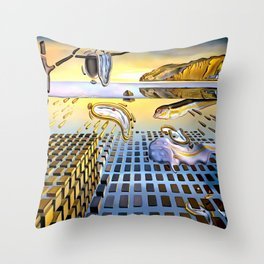 Salvador Dali The Disintegration of the Persistence of Memory 1954 Artwork for Wall Art, Prints, Posters, Tshirts, Men, Women, Kids Throw Pillow