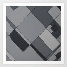 Grey Map 45 Art Print