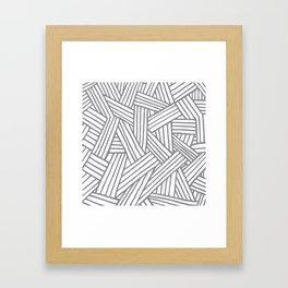 Inter Lines Gray Framed Art Print