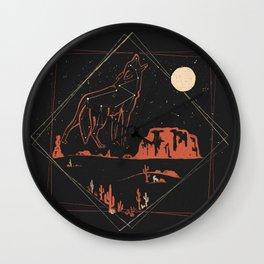 Heaven's Wild Coyote Wall Clock