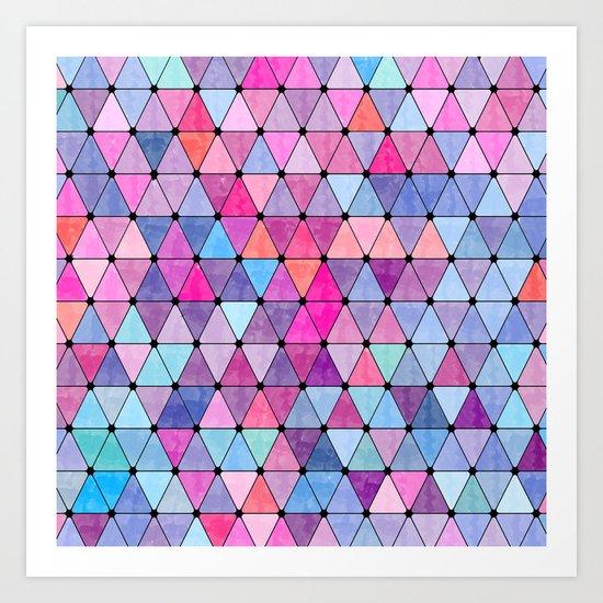 Lovely geometric Pattern VIV Art Print