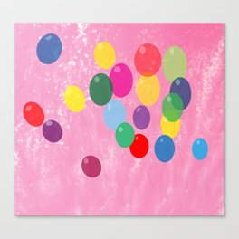 Balloons in a Cotton Candy Sky Canvas Print