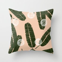 Palms & Dots #society6 #decor #buyart Throw Pillow
