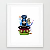 the thing Framed Art Prints featuring Thing by Matej