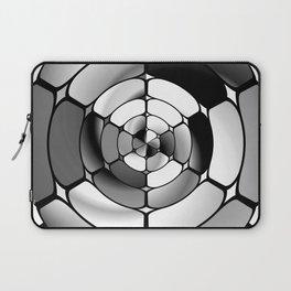 Chromed black and white Laptop Sleeve
